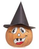 Emotional halloween pumpkin Royalty Free Stock Photography