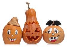 Emotional halloween pumpkins Stock Image