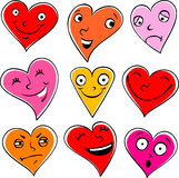 Emotional hearts Stock Photography