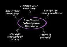 Emotional Intelligence Domains stock image