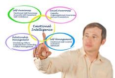Emotional Intelligence. Man presenting components of Emotional Intelligence Stock Photo