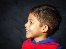 Emotional little black afro-american boy portrait Royalty Free Stock Photos