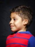 Emotional little black afro-american boy portrait Royalty Free Stock Image