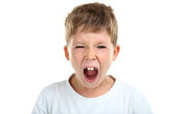 Emotional little boy Stock Photography