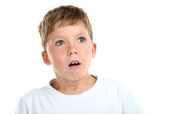Emotional little boy Stock Photo