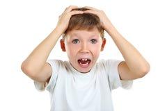 Emotional little boy Stock Photos