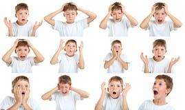 Emotional little boy Stock Photo