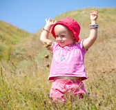 Emotional Little Girl with funny Face Expression Royalty Free Stock Photography
