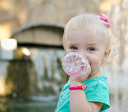 Emotional Little Girl with funny Face Expression Royalty Free Stock Image