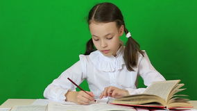 Emotional little girl tears spoiled paper. Child stock video footage