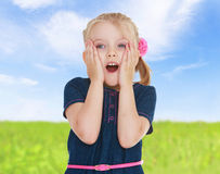 Emotional little girl. Royalty Free Stock Images