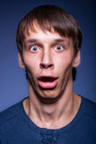 Emotional man. Very much surprised with his mouth open Stock Photo