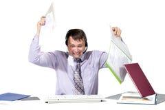 Emotional man working Stock Photo