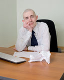 Emotional manager at office Royalty Free Stock Photos