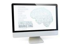 Emotional marketing computer Stock Images