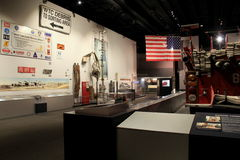 Emotional memorial exhibit with recovered items from 9-11,State Museum,Albany,New York,2016. Moving exhibit of items recovered from that horrific day,9-11,State Royalty Free Stock Image