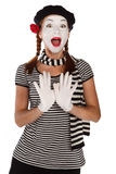 Emotional mime portrait Stock Photography