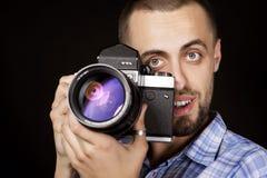 Emotional photographer closeup Stock Photos