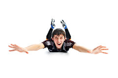 Emotional player in football Royalty Free Stock Image