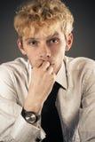 Emotional portrait of an attractive businessman Stock Photos