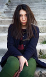 Emotional portrait of beautiful girl Stock Photo