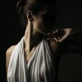 Emotional portrait of brunette Stock Photography