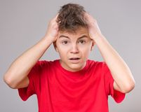Teen boy portrait Royalty Free Stock Photo