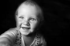 Emotional portrait of girl stock photos