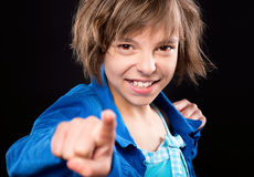 Emotional portrait of girl Stock Images