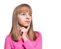Emotional portrait of girl Royalty Free Stock Photography