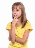 Emotional portrait of girl Stock Image