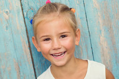 Emotional portrait of a happy little girl Royalty Free Stock Photography