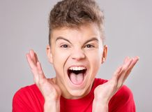 Teen boy portrait Stock Images