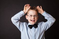 Emotional portrait of little boy Royalty Free Stock Photo