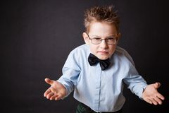 Emotional portrait of little boy Stock Photography