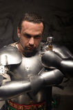 Emotional portrait of medieval Knight Royalty Free Stock Photo