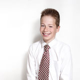 Emotional portrait of smiling boy Royalty Free Stock Images