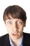 Emotional portrait of surprised man Stock Images