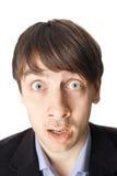 Emotional portrait of surprised man Stock Images