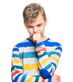 Emotional portrait of teen boy Stock Images