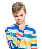 Emotional portrait of teen boy Royalty Free Stock Photos