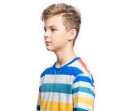 Emotional portrait of teen boy Royalty Free Stock Photo