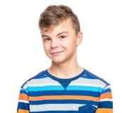 Emotional portrait of teen boy Royalty Free Stock Image
