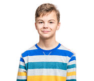 Emotional portrait of teen boy Stock Photo