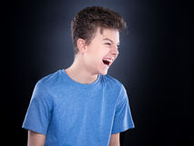 Emotional portrait of teen boy Royalty Free Stock Photography