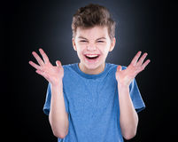 Emotional portrait of teen boy Royalty Free Stock Image