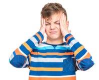 Emotional portrait of teen boy Stock Image
