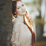 Emotional portrait of young woman. Royalty Free Stock Photos