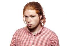 Emotional redhead businessman Royalty Free Stock Image