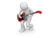 Emotional rock guitarist Stock Image